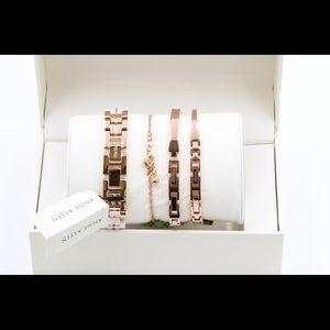 Anne Klein Accessories - Anne Klein Womens Pink Ceramic Watch Set Bracelets
